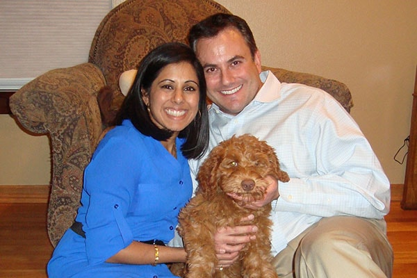 Dr Kulkarni with husband and dog